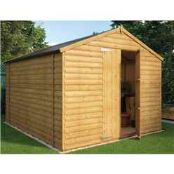 10 x 8 Loglap Windowless Shed with Double Doors