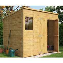 8 x 6 Shiplap Pent Shed with Double Doors and 1 Window