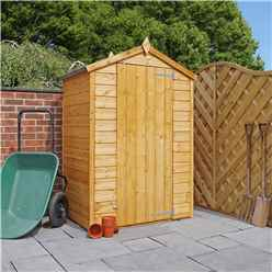 Installed 3 x 4 Tongue And Groove Windowless Wooden Apex Shed With Single Door (10mm Solid Osb Floor) Includes Installation
