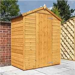 Installed 3 x 5 Wooden Windowless Tongue And Groove Apex Shed With Single Door (10mm Solid Osb Floor) Includes Installation