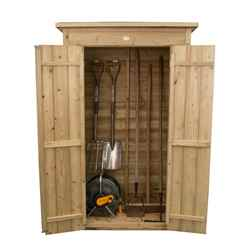 INSTALLED Pent Tall Garden Store - Pressure Treated (1.1m x 0.6m) - INCLUDES INSTALLATION