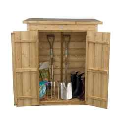 INSTALLED Shiplap Pent Garden Store - Pressure Treated (1.1m x 0.6m) - INCLUDES INSTALLATION
