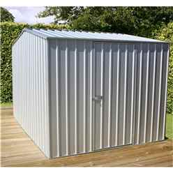 **PRE-ORDER: DUE BACK IN STOCK 1ST MARCH** 8 x 10 Premier Zinc Metal Garden Shed (2.26m x 3m) *FREE 24HR/48HR DELIVERY*