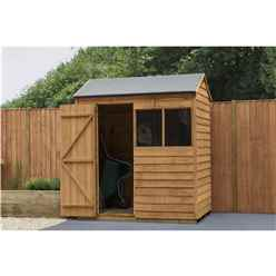 INSTALLED 4ft x 6ft Reverse Apex Overlap Dip Treated Shed (1.3m x 1.8m) - Modular - INCLUDES INSTALLATION - CORE