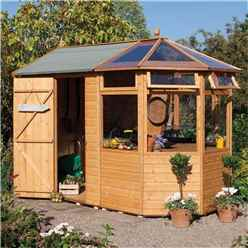 INSTALLED 10 x 6 Deluxe Potting Shed (Tongue And Groove Floor) INCLUDES INSTALLATION