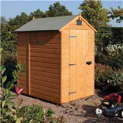 INSTALLED 6 x 4 Deluxe Security Tongue And Groove Shed (12mm Tongue And Groove Floor) INCLUDES INSTALLATION