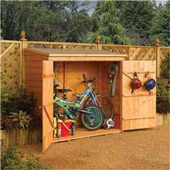 INSTALLED 6 x 3 Deluxe Tongue And Groove Wallstore / Bike Shed (1.83m x 0.83m) INCLUDES INSTALLATION