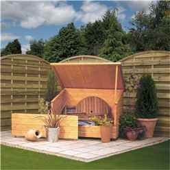 INSTALLED Deluxe Tongue And Groove Garden Chest 46 x 211 (1.38m x 0.9m) INCLUDES INSTALLATION