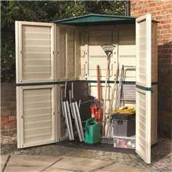 INSTALLED 5 x 3 Deluxe Plastic Tall Shed (1.51m x 0.83m) INCLUDES INSTALLATION