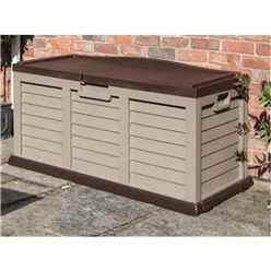 INSTALLED Deluxe Mocha Plastic Storage Box/bench INCLUDES INSTALLATION