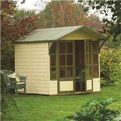INSTALLED Deluxe 9 x 7 Summerhouse (12mm Tongue and Groove Floor and Roof) INCLUDES INSTALLATION