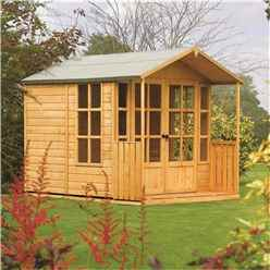 INSTALLED Deluxe 10 x 7 Summerhouse (12mm Tongue and Groove Floor and Roof) INCLUDES INSTALLATION