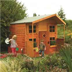 INSTALLED Deluxe Hideaway House Playhouse (2.48m x 2.48m) INCLUDES INSTALLATION