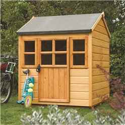 INSTALLED Deluxe Little Lodge Playhouse 4 x 4 (1.25m x 1.29m )INCLUDES INSTALLATION