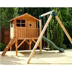 Tower Playhouse, Slide and Swing 5ft x 7ft