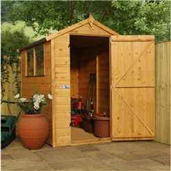 6 x 4 Select Tongue And Groove Apex Shed With 2 Windows And Single Door (12mm Tongue and Groove Floor) (10mm Solid OSB Roof) - 48hr + Sat Delivery*