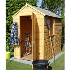 INSTALLED 6 x 4 (1.83m x 1.19m) - Tongue & Groove Apex Garden Shed - 1 Window - Single Door - 11mm Solid OSB Floor