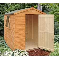 INSTALLED 6 x 6 Tongue And Groove Apex Wooden Garden Shed / Workshop With Single Door (12mm Tongue And Groove Floor)