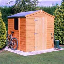 INSTALLED - Stowe - 6 x 6 (1.79m x 1.79m) - Tongue & Groove Apex Garden Shed - 1 Opening Window - Single Door - 12mm Tongue and Groove Floor INSTALLATION INCLUDED