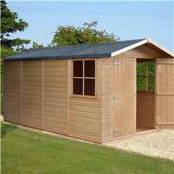 INSTALLED - 13 x 7 (4.03m x 2.05m) - Tongue & Groove - Apex Garden Shed - 2 Opening Windows - Double Doors - 12mm Tongue and Groove Floor
