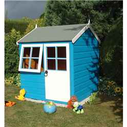 INSTALLED 4 x 4 (1.19m x 1.19m) - Wooden Playhouse INSTALLATION INCLUDED