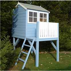 INSTALLED 4 x 6 (1.19m x 1.82m) - Wooden Tower Playhouse INSTALLATION INCLUDED