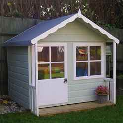 INSTALLED 5 x 4 (1.49m x 1.19m) - Wooden Playhouse INSTALLATION INCLUDED