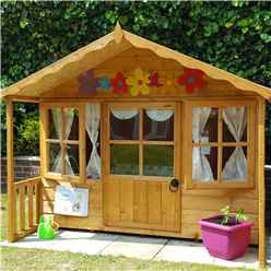 "INSTALLED  6 x 5' 6 "" (1.79m x 1.19m) - Wooden Playhouse INSTALLATION INCLUDED"