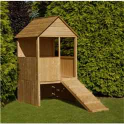 INSTALLED 4 x 4 (1.20m x 1.20m) - Wooden Lookout Playhouse INSTALLATION INCLUDED