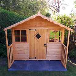 INSTALLED 6 x 5 (1.78m x 1.19m) - Wooden Playhouse INSTALLATION INCLUDED