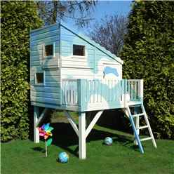 INSTALLED  6 x 6 (1.79m x 1.79m) -  Wooden Command Post Tower Playhouse