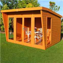 INSTALLED 10 x 10 (2.99m x 3.06m)  - Premier Wooden Summerhouse - Double Doors - 12mm T&G Walls & Floor INSTALLATION INCLUDED