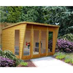 INSTALLED 10 x 8 Wooden Summerhouse (12mm Tongue And Groove Floor)