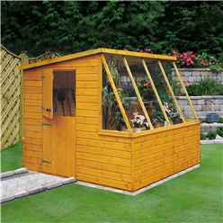 8 x 8 Tongue And Groove Potting Shed With Opening Side Window