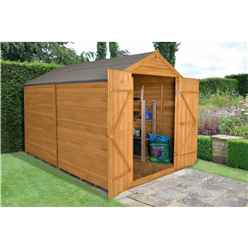 Overlap Dip Treated 10ft x 8ft Apex Shed - Double Door With No Windows (2.59m x 3.10m)