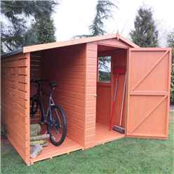 7 x 6 Tongue And Groove Apex Shed With Log Store