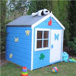4 x 4 Wooden Playhut Playhouse