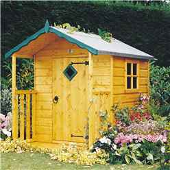 INSTALLED 4 x 4 (1.19m x 1.19m) - Wooden Hide Playhouse INSTALLATION INCLUDED