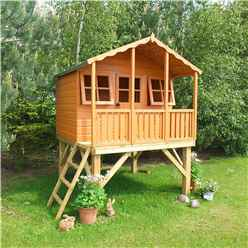 6 x 4 (1.79m x 1.19m) - Wooden Stork Playhouse With Platform