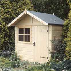 INSTALLED 5 x 4 (1.48m x 1.42m) -  Wooden Club Playhouse INSTALLATION INCLUDED