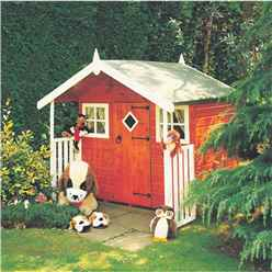 INSTALLED 6 x 4 (1.72m x 1.19m) - Wooden Hobby Playhouse INSTALLATION INCLUDED