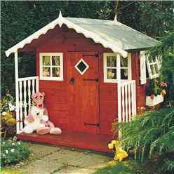 INSTALLED 6 x 6 (1.79m x 1.79m) - Wooden Den Playhouse INSTALLATION INCLUDED