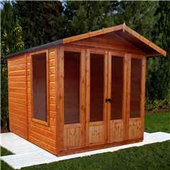 INSTALLED 7 x 7 (2.69m x 2.05m) Wooden Parham Summerhouse - 12mm Tongue And Groove Floor And Roof - INCLUDES INSTALLATION