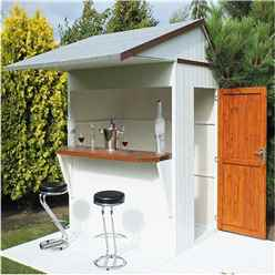 6 x 4 (1.79m x 1.19m) - Garden Bar And Store  - 12mm Tongue And Groove Floor and Roof