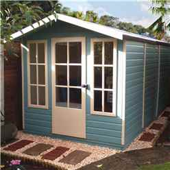 INSTALLED 10 x 7 (2.97m x 2.05m) - Premier Wooden Summerhouse - Single Doors - 12mm T&G Walls - Floor - Roof INSTALLATION INCLUDED