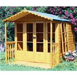 10 x 7 (2.97m x 2.05m) - Tongue And Groove - Apex Summerhouse - Veranda - 12mm Tongue and Groove Floor