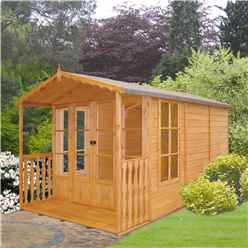 13 x 7 (3.96m x 2.05m) - Tongue And Groove - Apex Summerhouse - Veranda - 12mm Tongue and Groove Floor & Roof