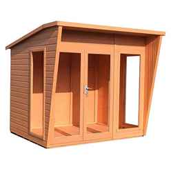 8 x 6 (2.99m x 1.79m) - Premier Wooden Summerhouse - 12mm T&G Walls & Floor
