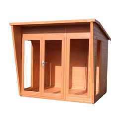 INSTALLED 8 x 6 (2.29m x 1.79m) - Premier Wooden Summerhouse - 12mm T&G Walls & Floor -  INCLUDES INSTALLATION