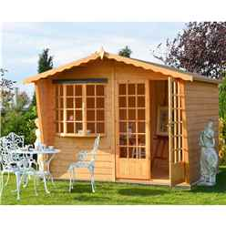 INSTALLED 10 x 6 Wooden Apex Summerhouse (12mm Tongue And Groove Floor & Roof) INCLUDES INSTALLATION